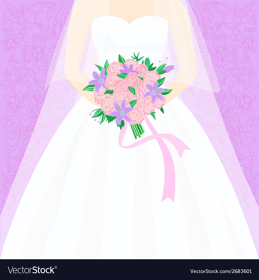 Bride with bouquet vector | Price: 1 Credit (USD $1)