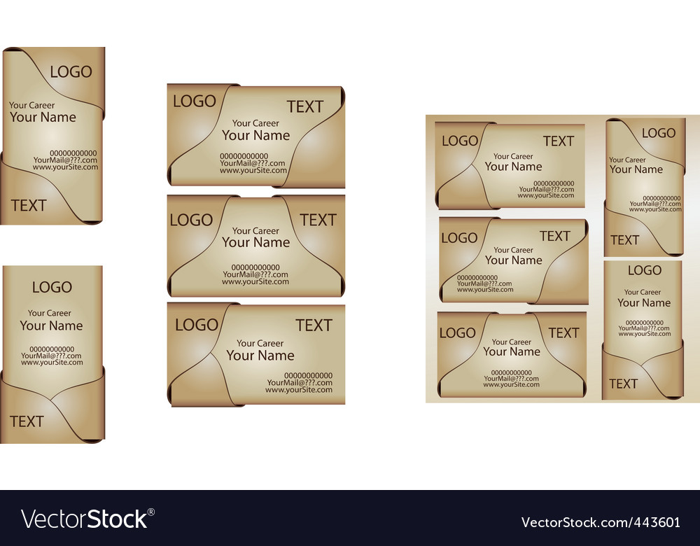 Business card template set 4 vector | Price: 1 Credit (USD $1)