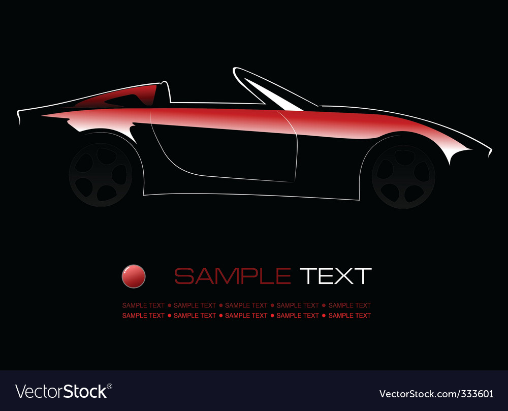 Car silhouette vector | Price: 3 Credit (USD $3)