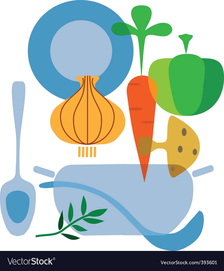Cooking and vegetables vector | Price: 1 Credit (USD $1)