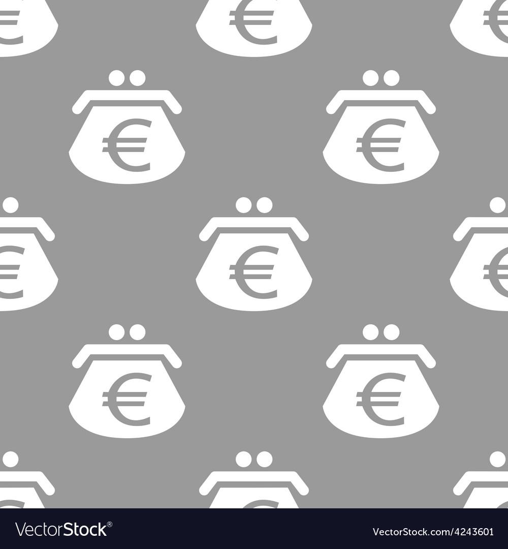 Euro purse seamless pattern vector   Price: 1 Credit (USD $1)