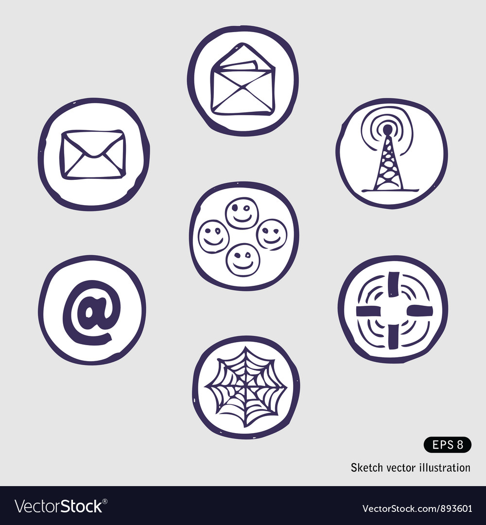 Internet devices icon set vector | Price: 1 Credit (USD $1)