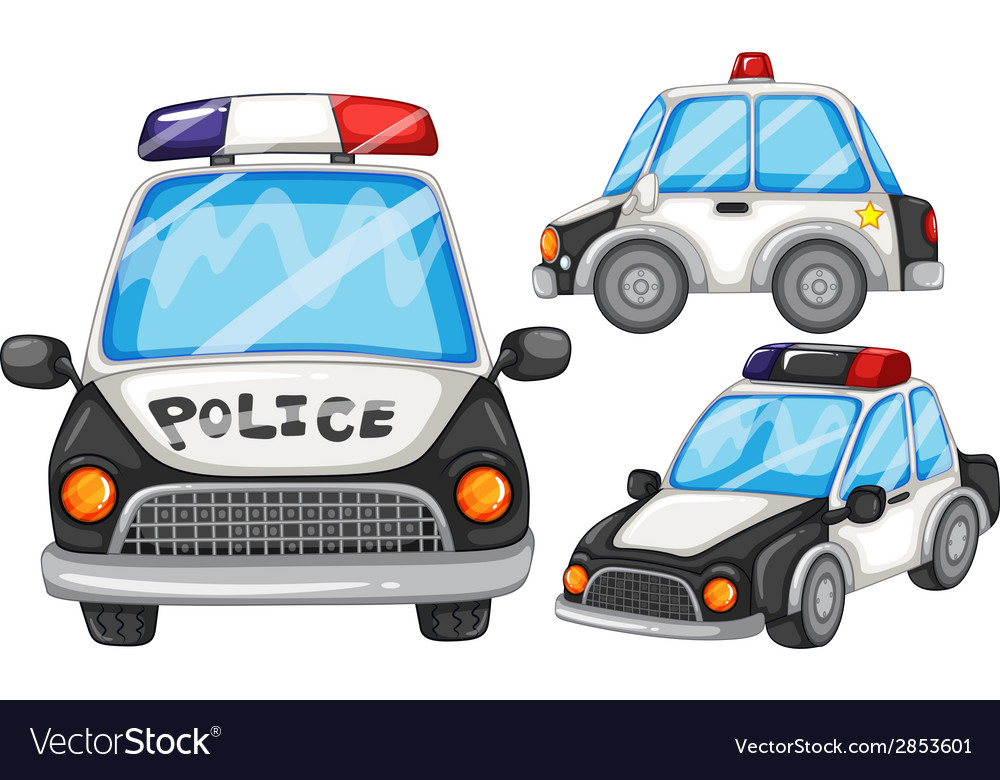 Police cars vector | Price: 1 Credit (USD $1)