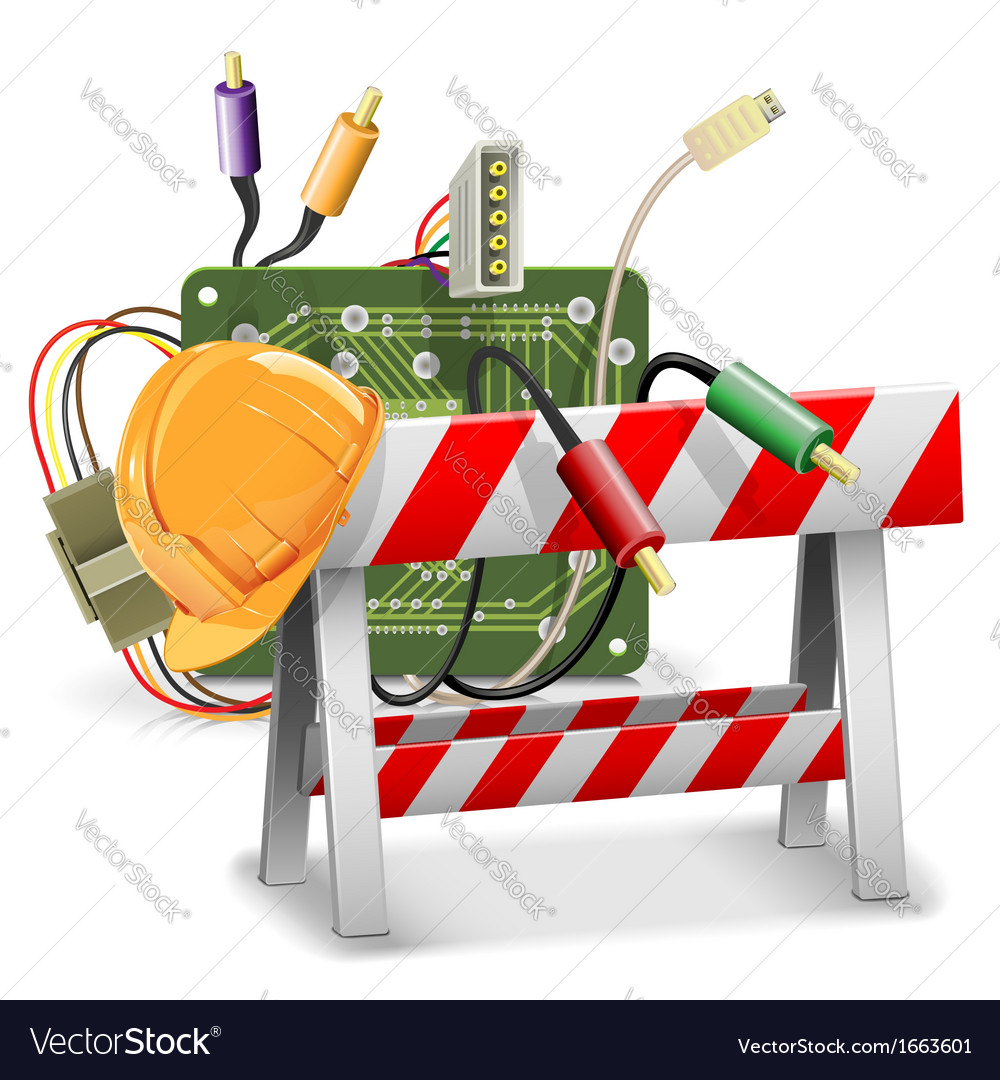 Under construction concept with barrier vector | Price: 3 Credit (USD $3)