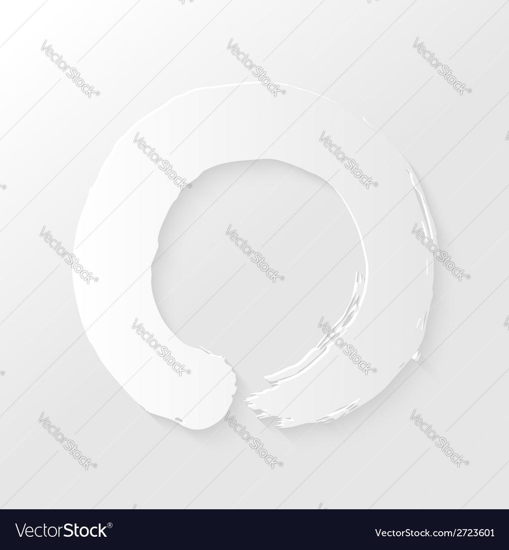 Zen circle paper shadow vector | Price: 1 Credit (USD $1)