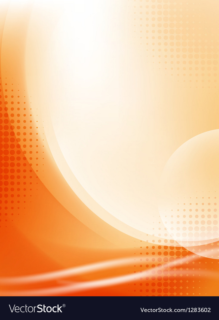 Abstract orange flowing background vector