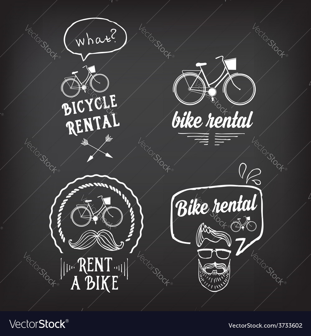 Bike rental design concept vector | Price: 1 Credit (USD $1)
