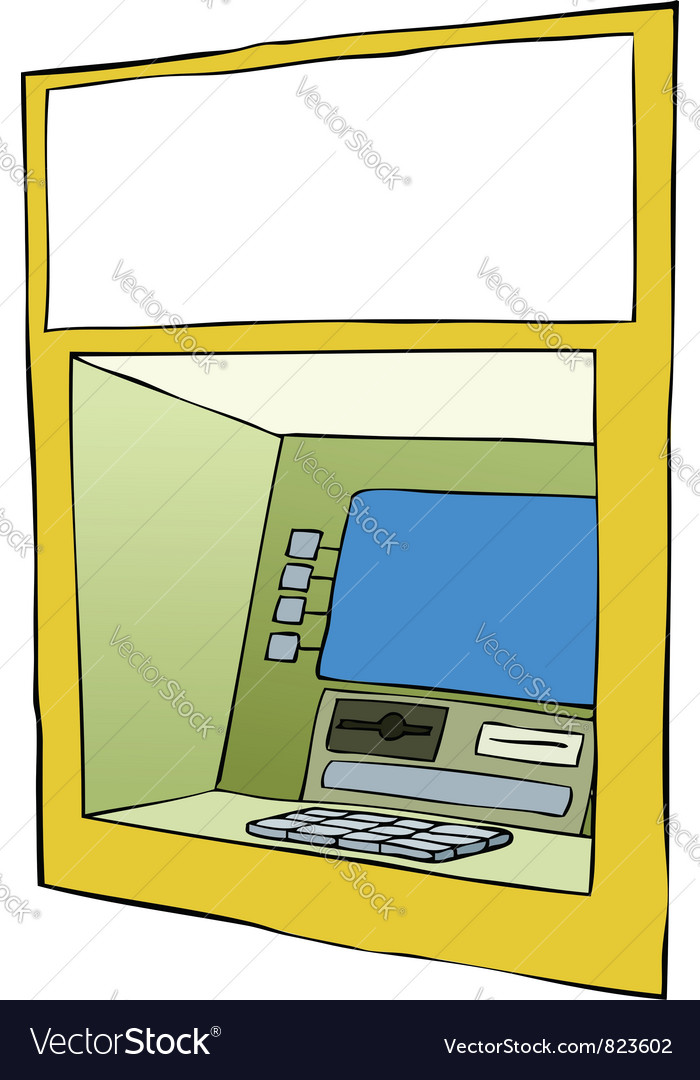 Cash machine vector | Price: 1 Credit (USD $1)