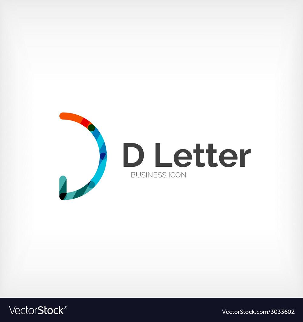 D letter logo minimal line design vector   Price: 1 Credit (USD $1)