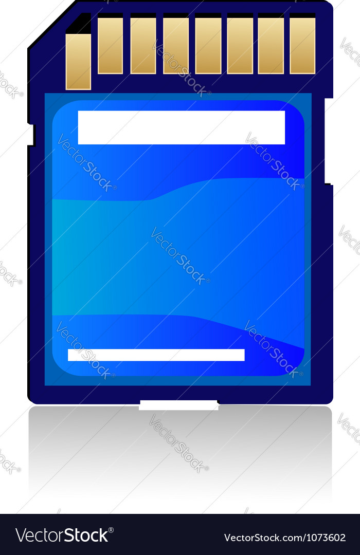 Digital memory card isolated on white background vector | Price: 1 Credit (USD $1)