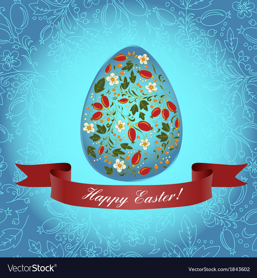 Easter floral red ribbon vector   Price: 1 Credit (USD $1)