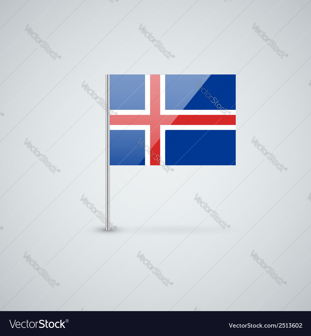 Flag of iceland vector | Price: 1 Credit (USD $1)