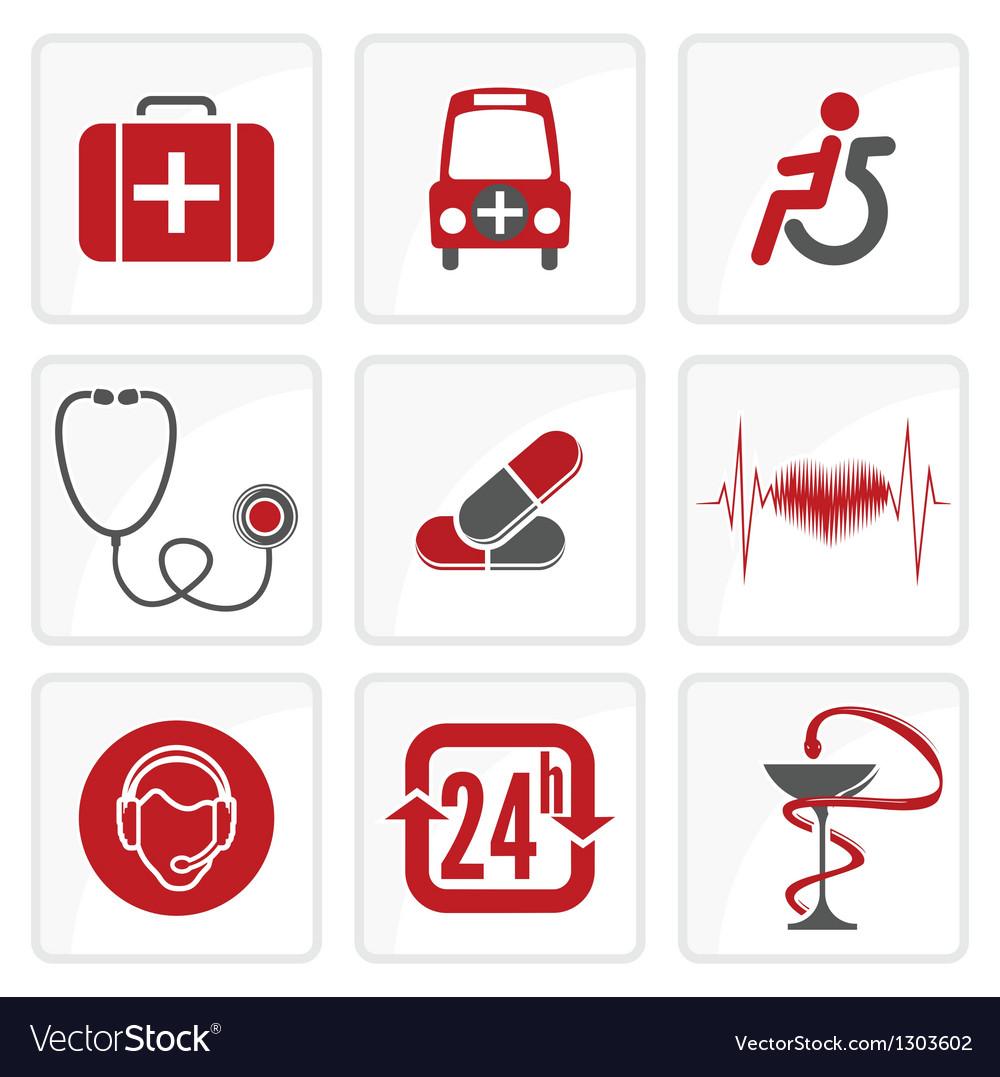 Heath care icons vector | Price: 1 Credit (USD $1)
