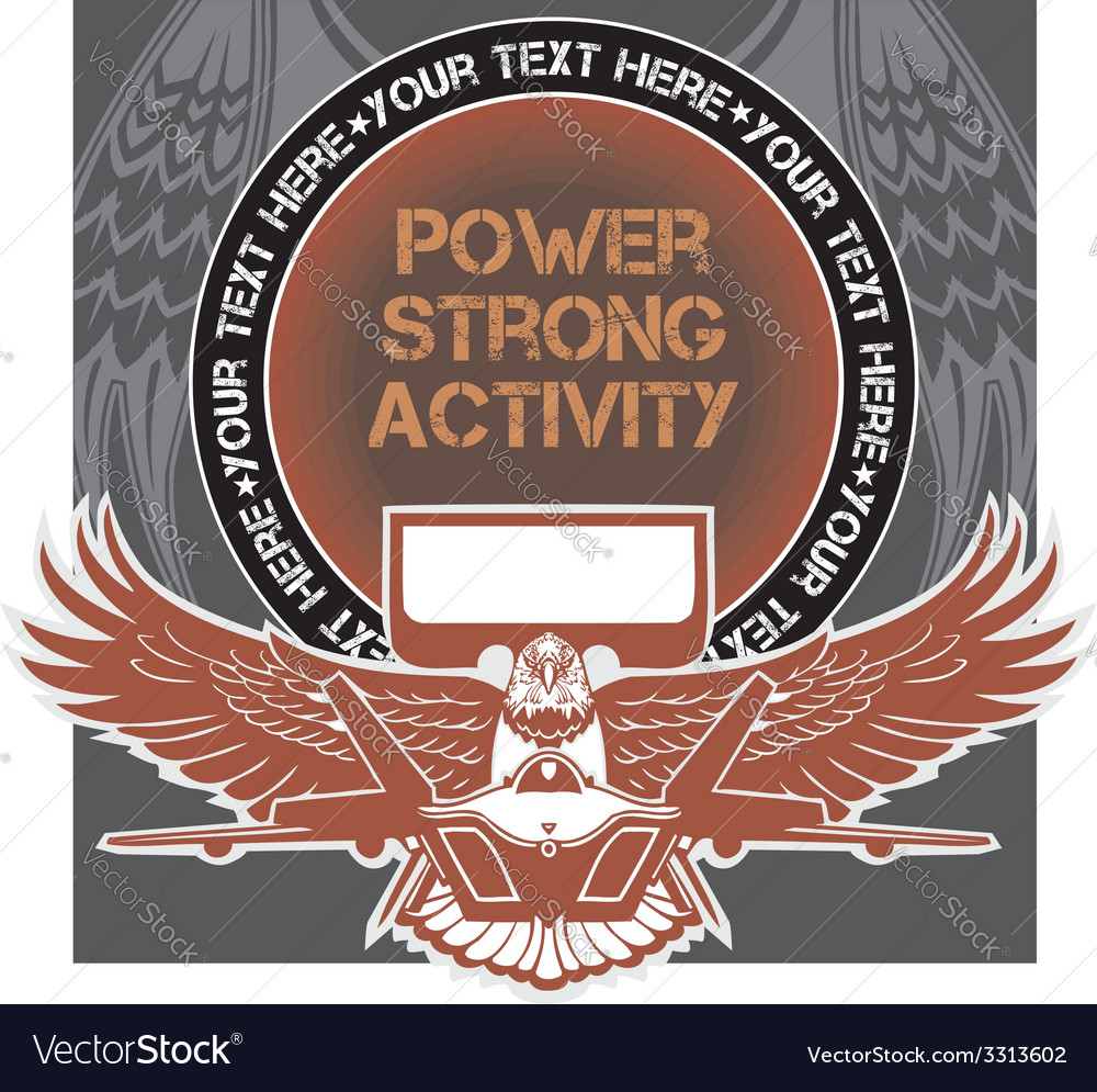 Military emblem - vector | Price: 1 Credit (USD $1)