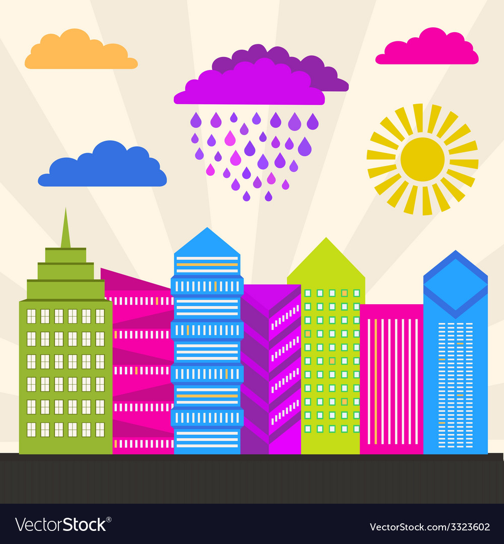 Modern city vector   Price: 1 Credit (USD $1)