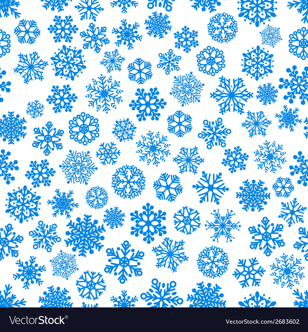 Seamless pattern of snowflakes vector | Price: 1 Credit (USD $1)