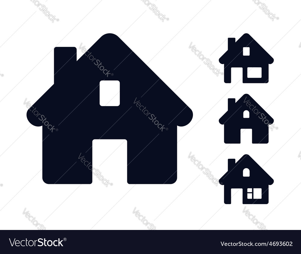Set of monochromatic houses vector | Price: 1 Credit (USD $1)