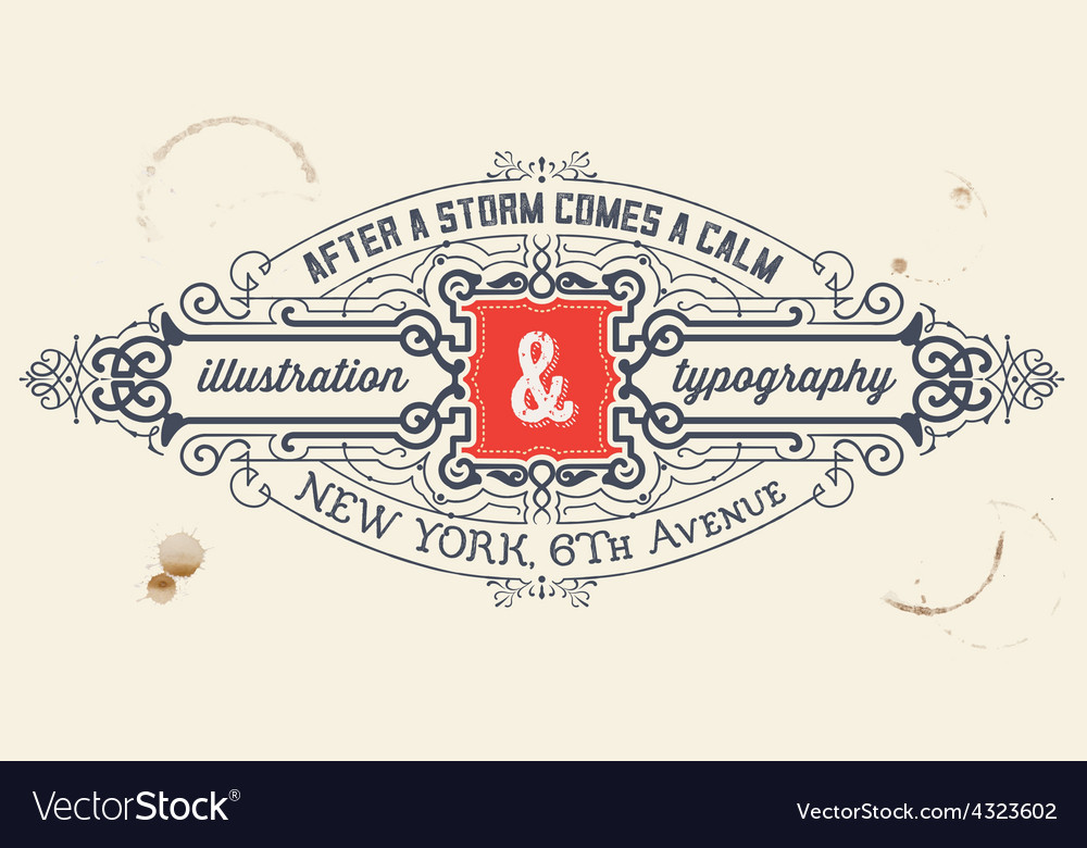 Vintage label organized by layers vector | Price: 1 Credit (USD $1)