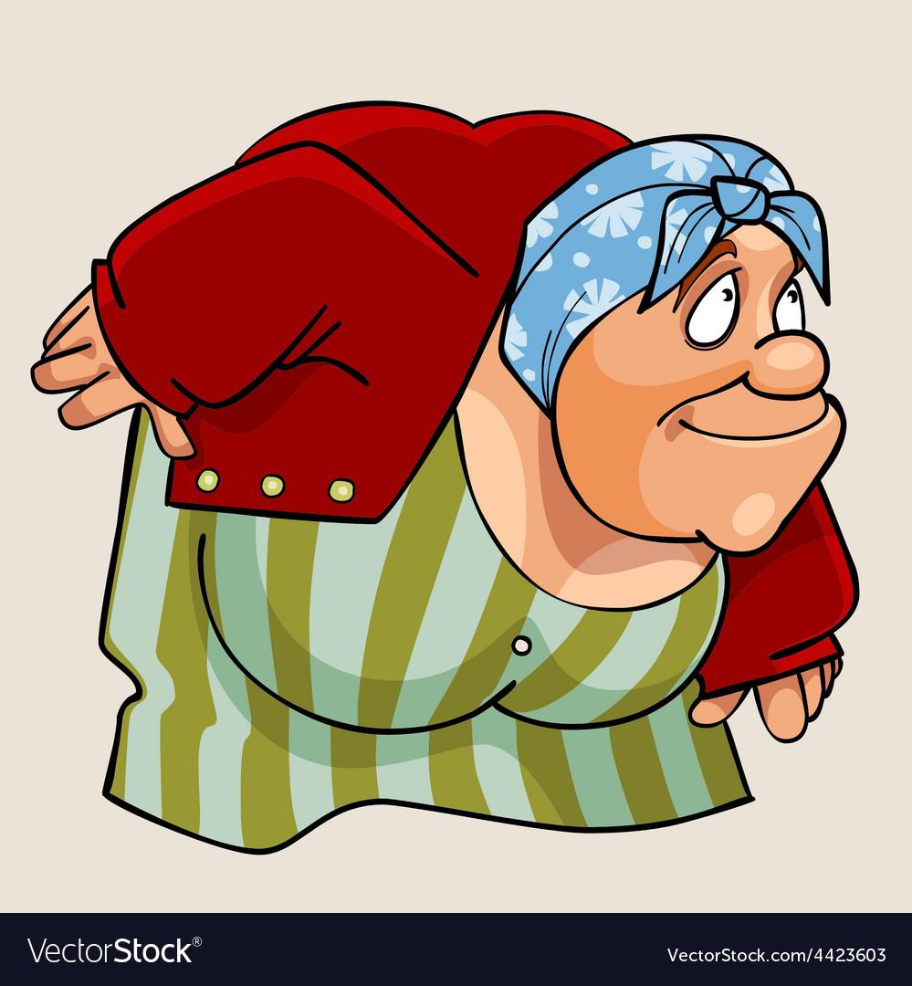 Cartoon grandmother vector | Price: 3 Credit (USD $3)