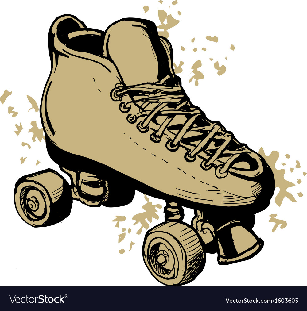 Derby roller skates isolated on white background vector | Price: 1 Credit (USD $1)