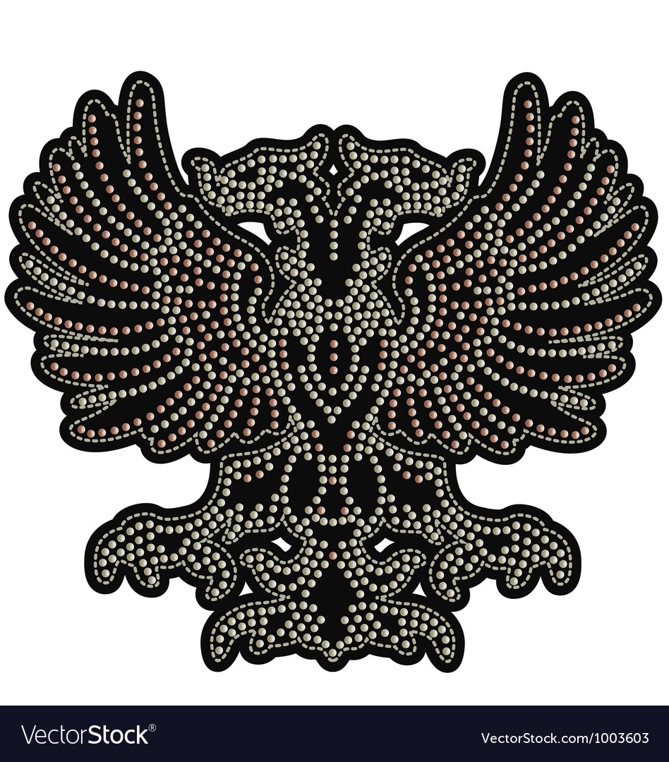 Eagle emblem with studs vector | Price: 1 Credit (USD $1)