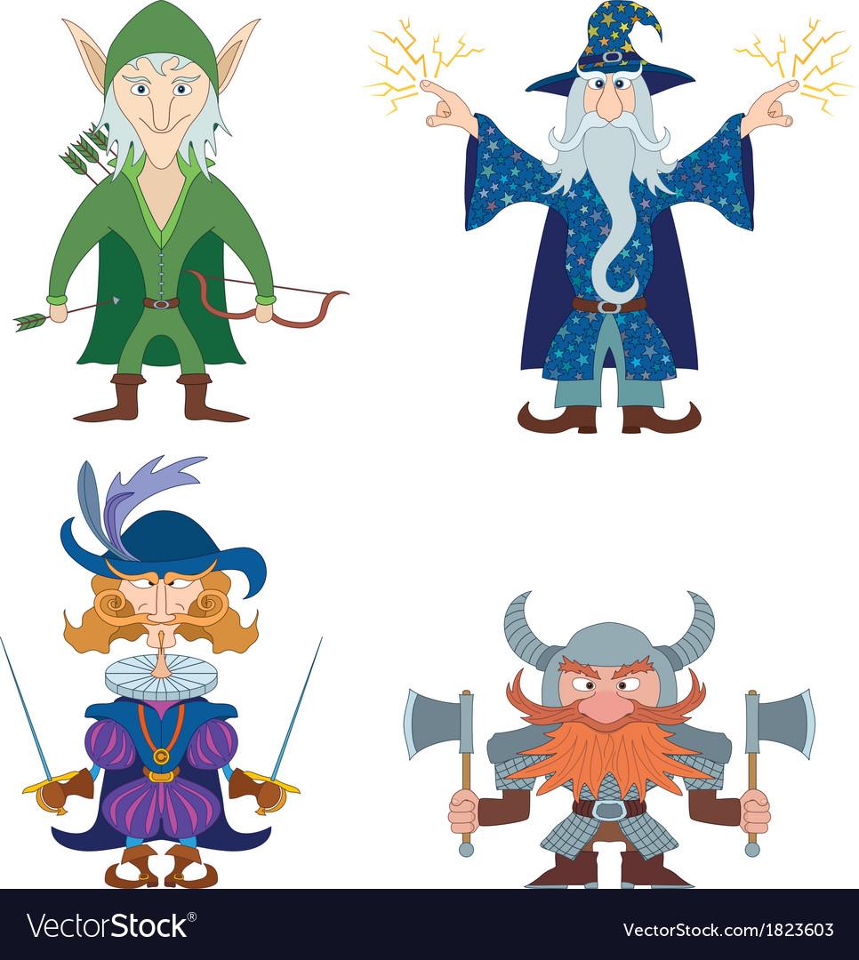 Fantasy heroes set vector | Price: 1 Credit (USD $1)