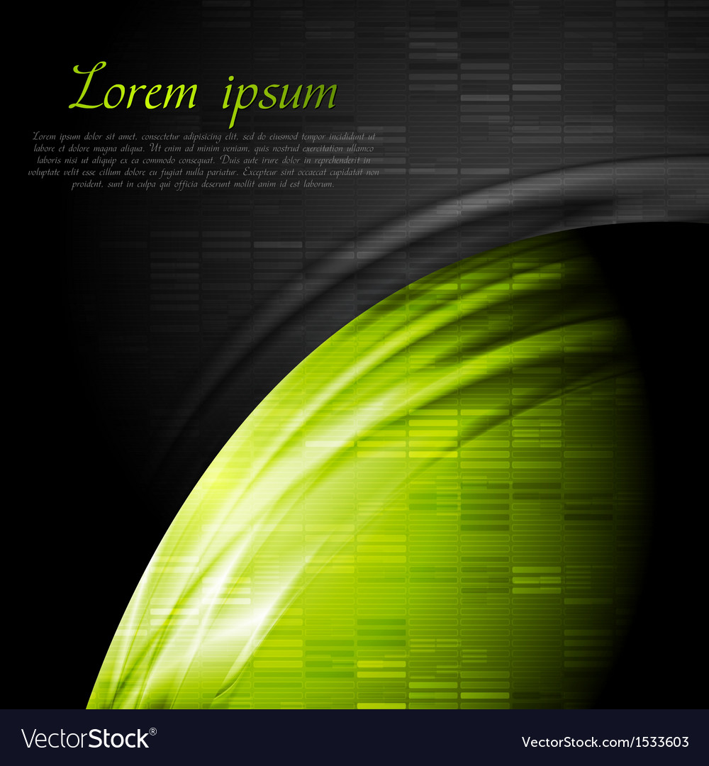 Green and black contrast technology backdrop vector | Price: 1 Credit (USD $1)