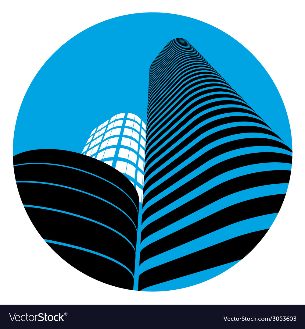 Office buildings sign vector | Price: 1 Credit (USD $1)