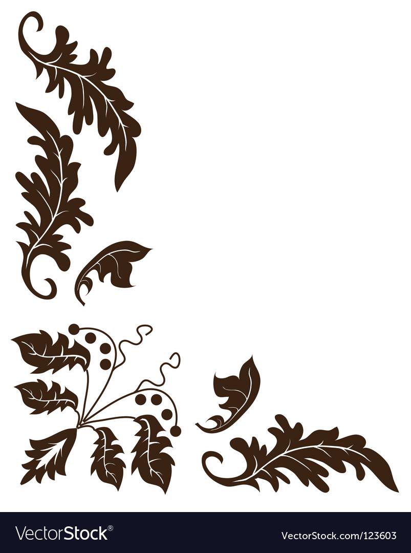Plant ornament vector | Price: 1 Credit (USD $1)