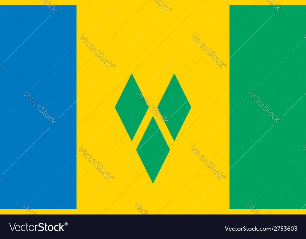 Saint vincent and the grenadines flag vector | Price: 1 Credit (USD $1)