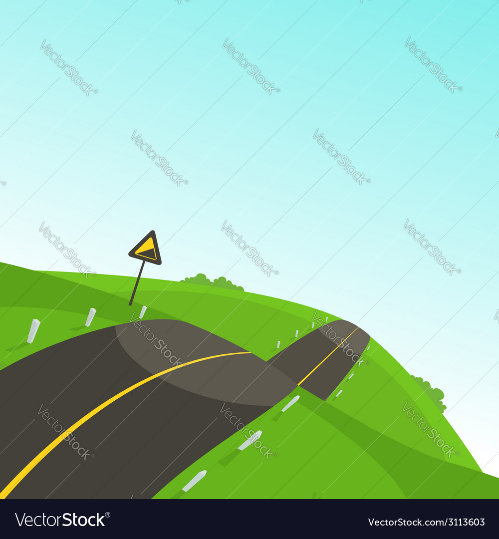 Steep road vector | Price: 1 Credit (USD $1)