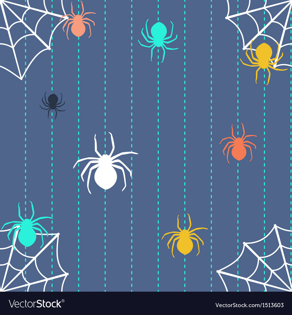 Stripy background with spiders and web vector | Price: 1 Credit (USD $1)