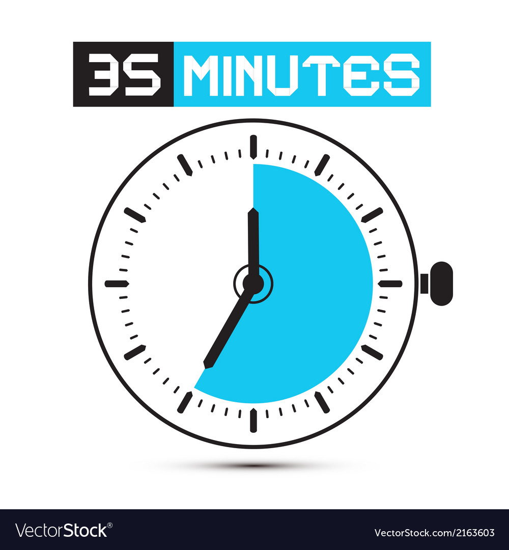 Thirty five minutes stop watch - clock vector | Price: 1 Credit (USD $1)
