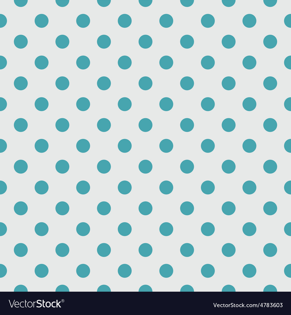 Tile pattern blue polka dots on grey background vector | Price: 1 Credit (USD $1)