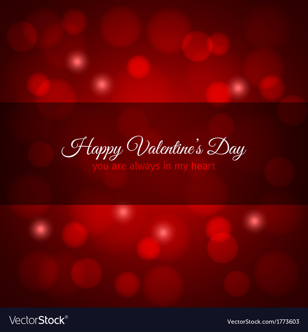 Valentines day red lights design background vector | Price: 1 Credit (USD $1)