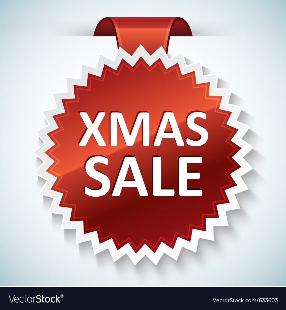 Xmas sale banner vector | Price: 1 Credit (USD $1)