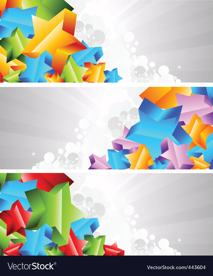 3d star banners vector | Price: 1 Credit (USD $1)