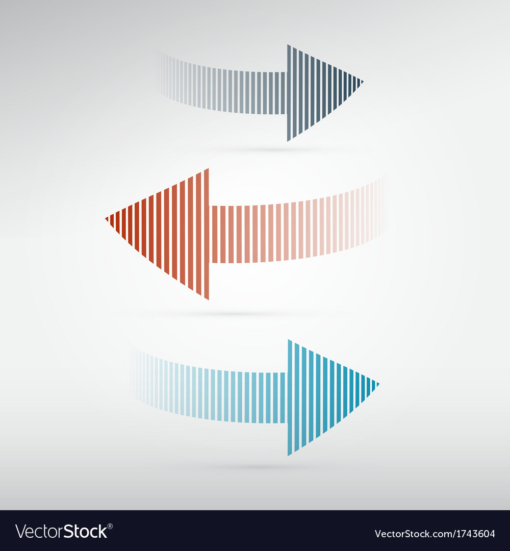 Arrows set on light background vector | Price: 1 Credit (USD $1)