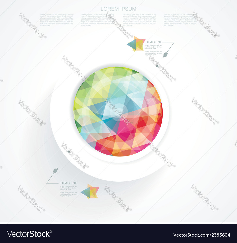 Business abstract circle icon vector | Price: 1 Credit (USD $1)