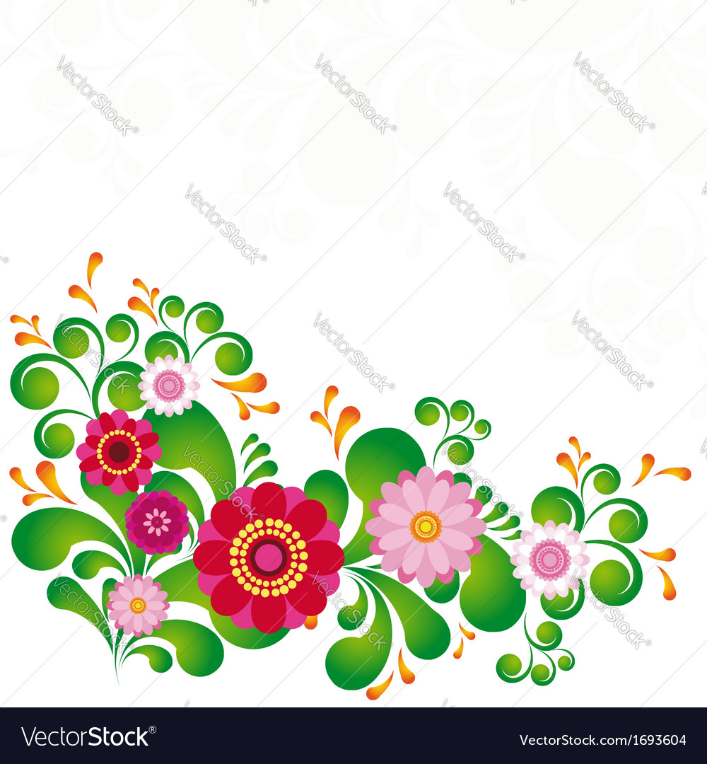 Colorful flower floral background to see similar vector | Price: 1 Credit (USD $1)