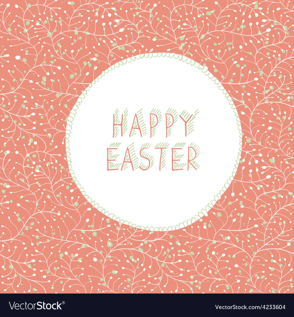 Easter card greeting vector   Price: 1 Credit (USD $1)