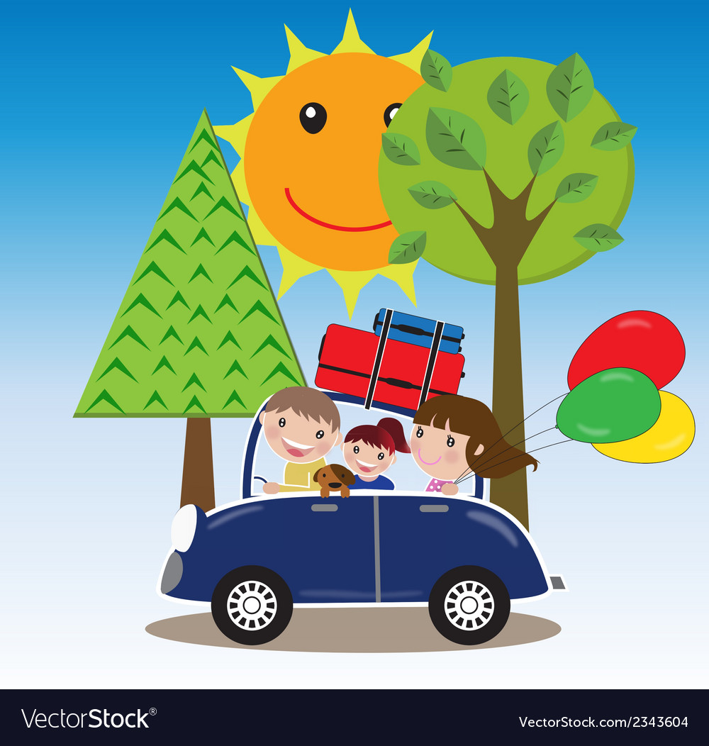 Family road trip vector | Price: 1 Credit (USD $1)