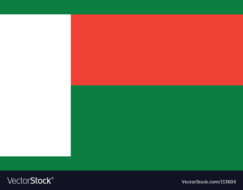 Madagascar flag vector | Price: 1 Credit (USD $1)