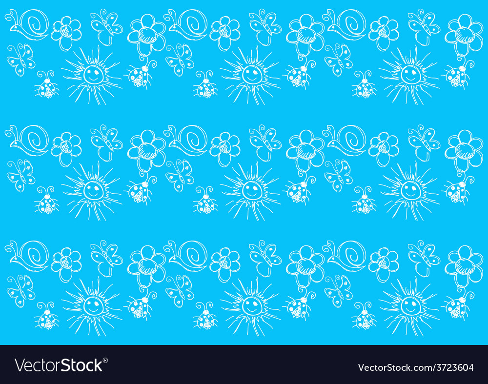 Naive art seamless pattern vector | Price: 1 Credit (USD $1)
