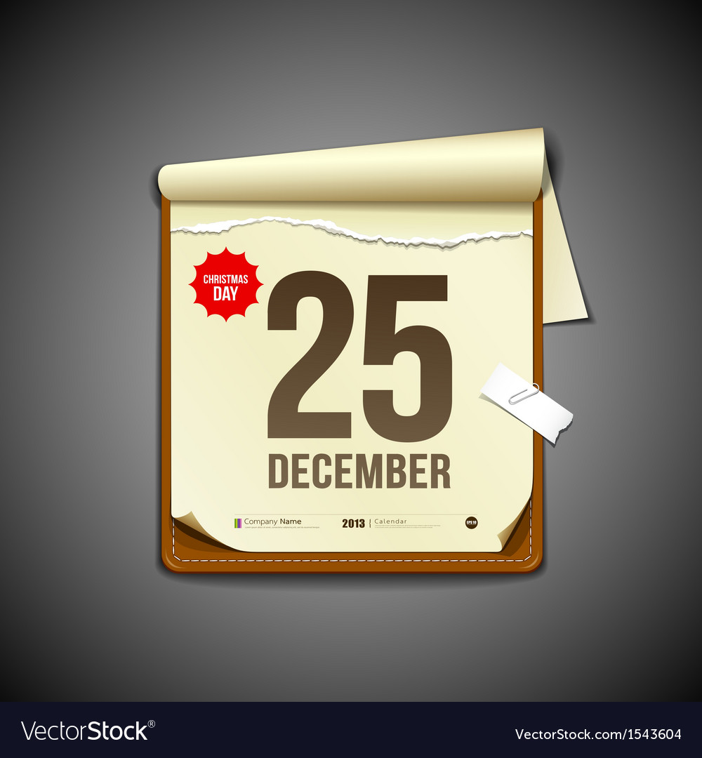Paper december calender vector | Price: 3 Credit (USD $3)