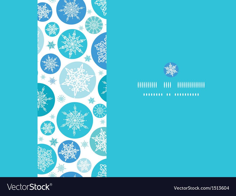 Round snowflakes horizontal seamless pattern vector | Price: 1 Credit (USD $1)