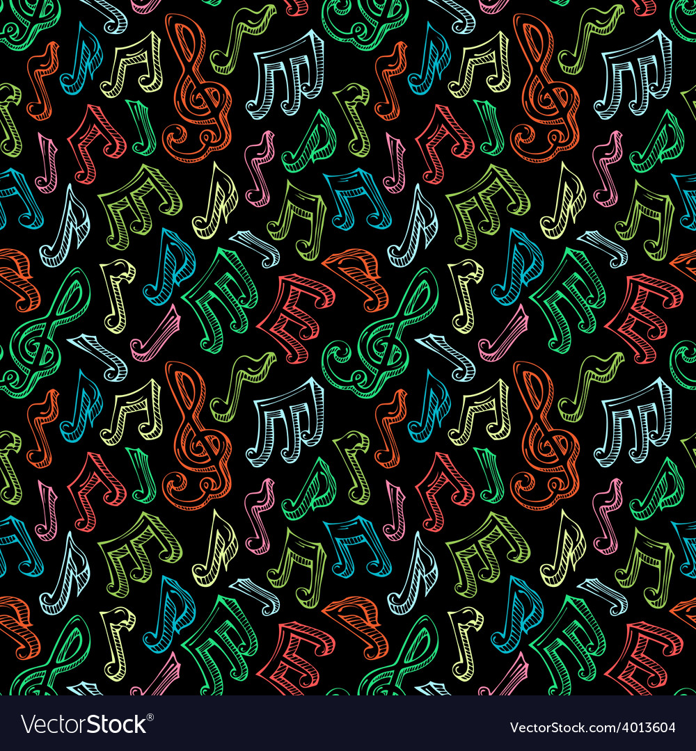 Seamless music pattern vector | Price: 1 Credit (USD $1)