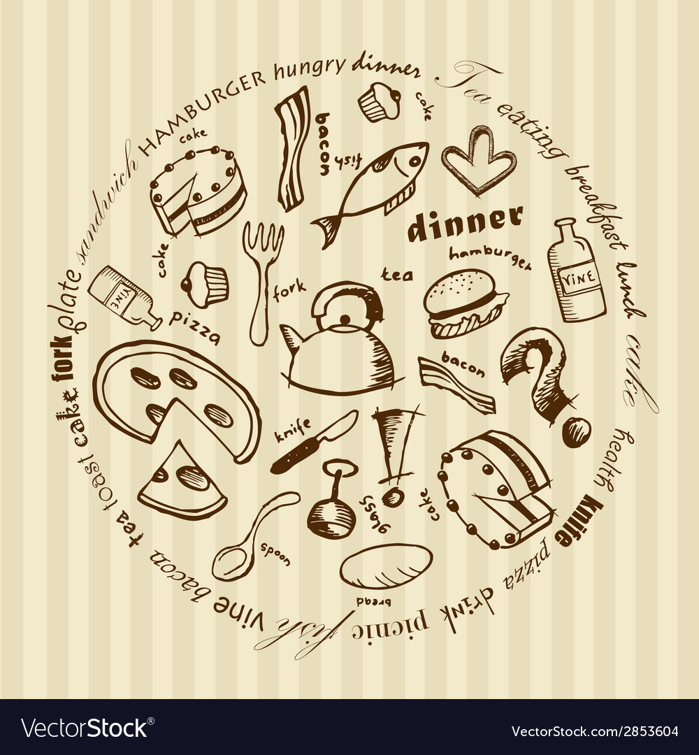 With food icons vector | Price: 1 Credit (USD $1)