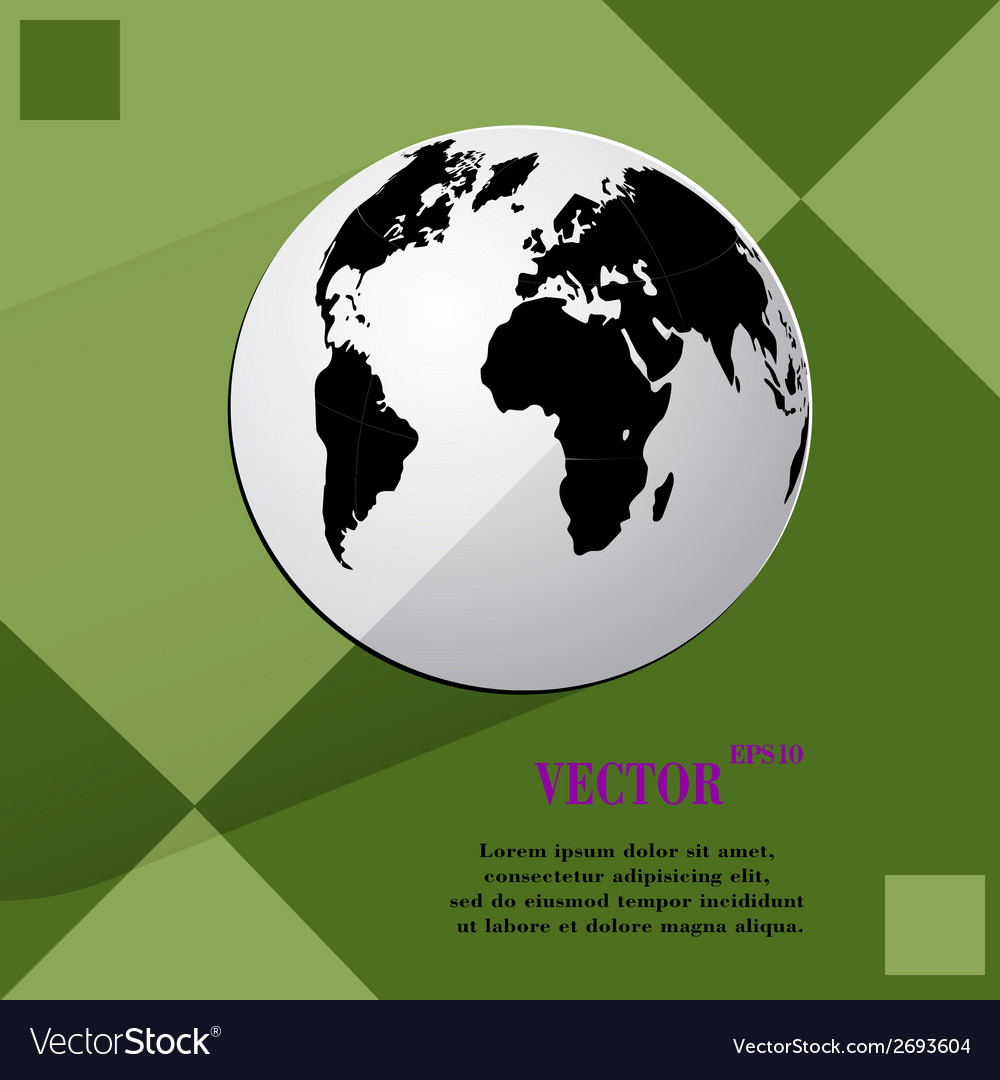 World map web icon on a flat geometric abstract vector   Price: 1 Credit (USD $1)