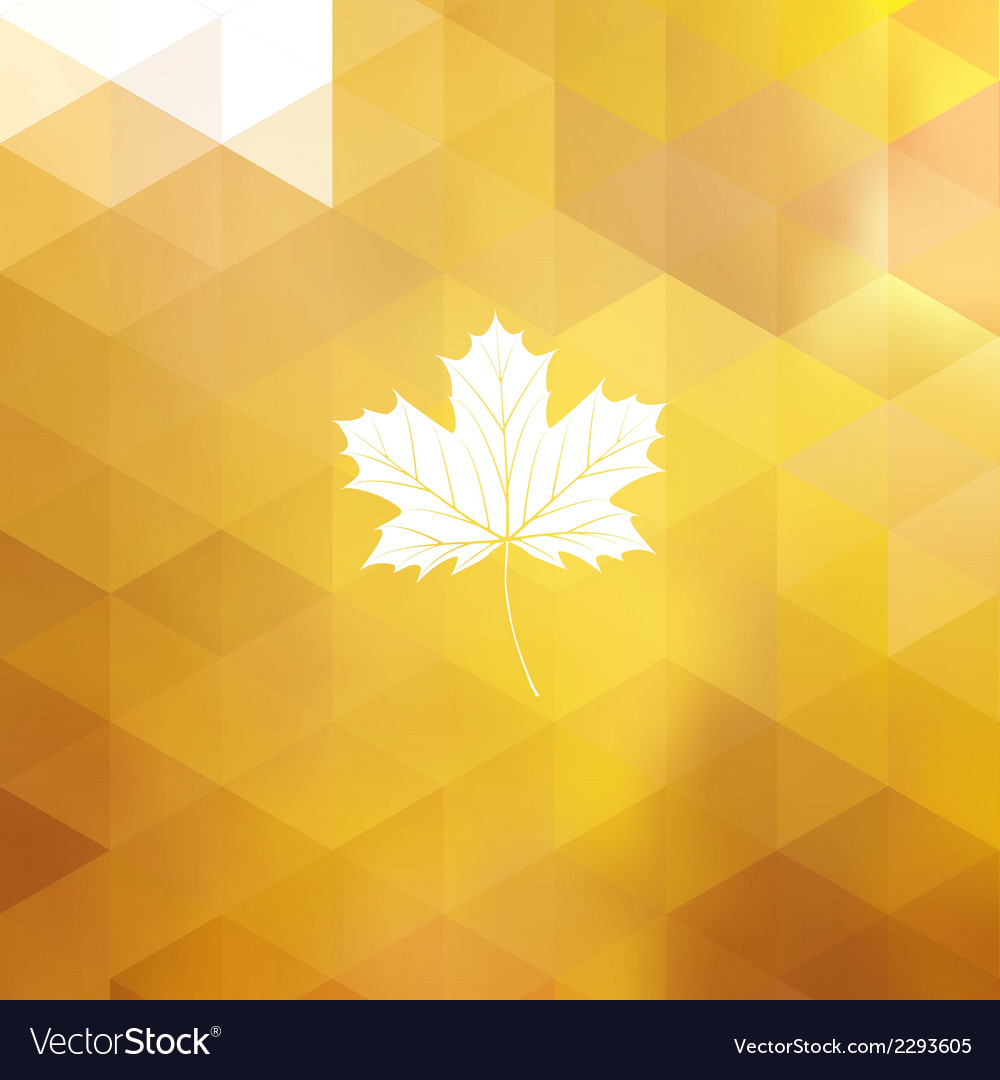 Autumn sun triangle background eps 10 vector | Price: 1 Credit (USD $1)